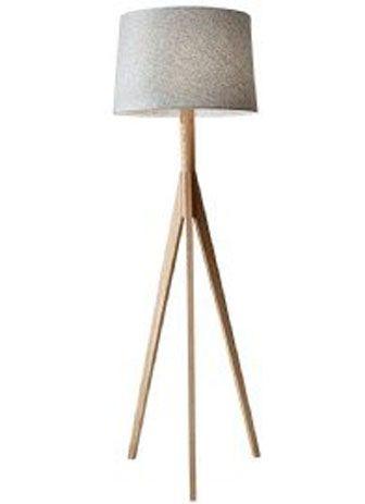 21345 Lampe Sur Pied Bois Scandinave Royaume Luminaire