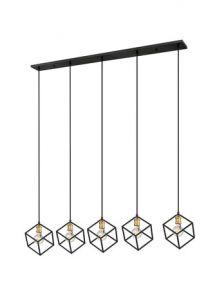50462 - Luminaire suspendu bronze et laiton antique.