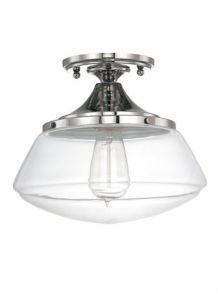 19008 - Luminaire plafonnier nickel poli