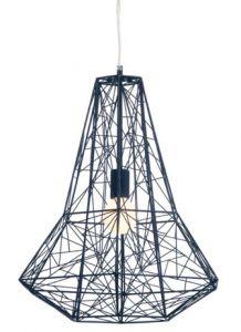 28743 - Luminaire suspendu noir.
