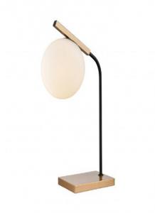 41157 - Lampe sur table noir et laiton.
