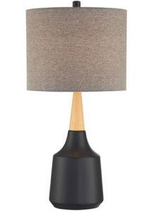 54456 - Lampe sur table noir et bois