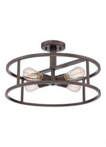58057 - Semi-plafonnier bronze