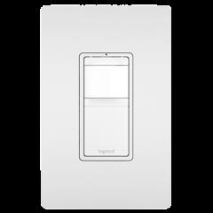 28006 - Détecteur de mouvement blanc satiné.