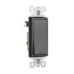 43185 - Interrupteur noir mat 3 voies