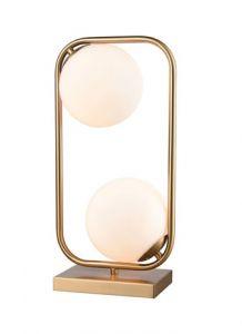 41159 - Lampe sur table laiton antique.
