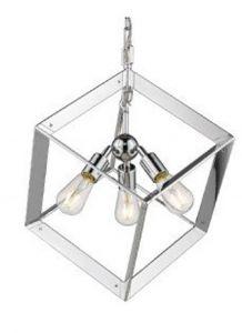41246 - Luminaire suspendu chrome.
