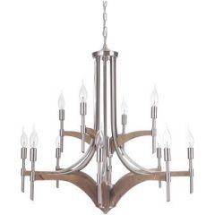 18321 - Luminaire chandelier en bois