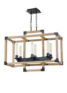 20974 - Luminaire en bois suspendu