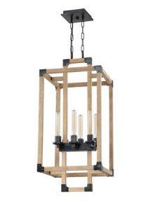 20979 - Luminaire en bois suspendu