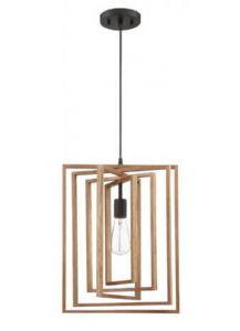 21014 - Luminaire suspendu 13.75 pces en bois.