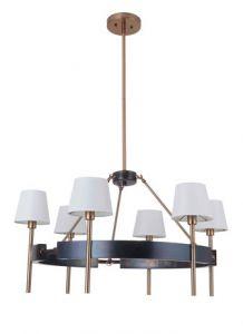 20993 - Luminaire suspendu bronze cuivré et or satiné