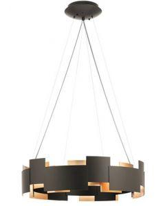 20283 - Luminaire suspendu bronze et laiton.