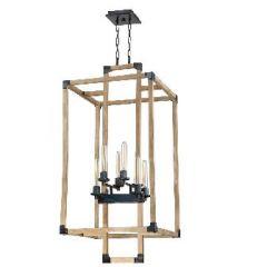 20982 - Luminaire suspendu en bois.