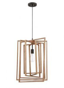 21015 - Luminaire suspendu 17 pces en bois.
