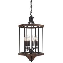 18326 - Luminaire suspendu en bois