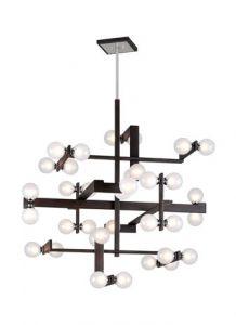 28168 - Luminaire suspendu contemporain grand format.