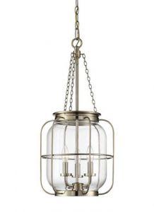 41131 - Luminaire suspendu laiton antique.