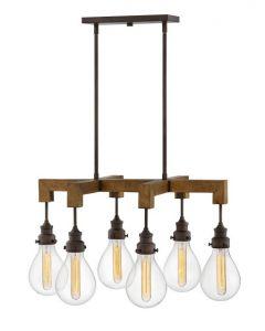 41621 - Luminaire bois et métal.