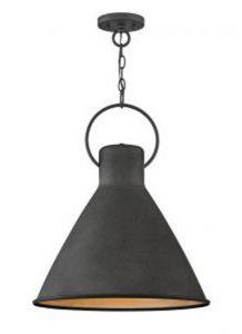 41608 - Luminaire suspendu noir mat.