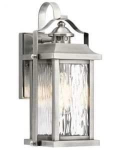 54024 - Luminaire extérieur argent brossé