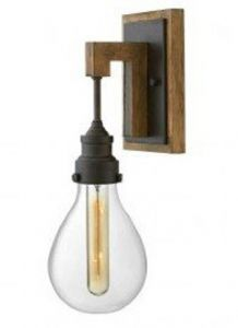 41616 - Luminaire mural bois et métal.