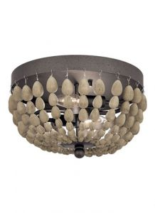 54019 - Luminaire plafonnier bille de bois.