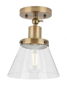 61354 - Luminaire plafonnier laiton antique.
