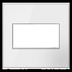 19548 - Plaque double blanche laquée