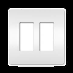 28023 - Plaque double blanche satinée.