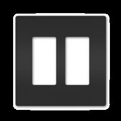 34184 - Plaque double noir mat