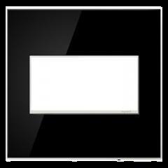 19554 - Plaque double noire laquée