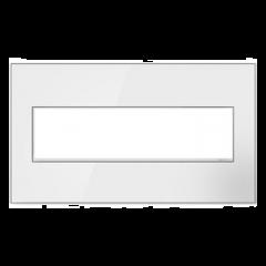 19551 - Plaque quadruple blanche laquée