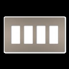 28029 - Plaque quadruple gris argenté