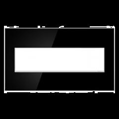 19557 - Plaque quadruple noir laquée