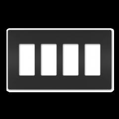 43183 - Plaque quadruple noir