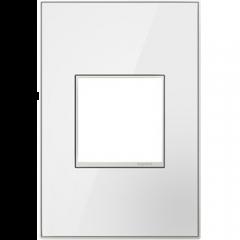 19547 - Plaque simple blanche laquée