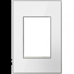 19552 - Plaque simple blanche laquée