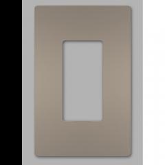 28026 - Plaque simple gris argenté