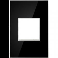 19553 - Plaque simple noir laquée