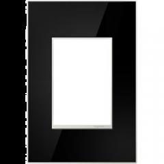 19555 - Plaque simple noir laquée