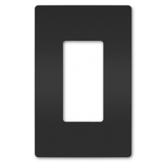 34183 - Plaque simple noir mat