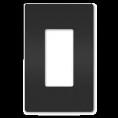 34183 - Plaque simple noir mat