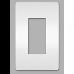 28022 - Plaque simple blanche satinée.