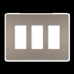 28028 - Plaque triple gris argenté