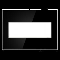 19556 - Plaque triple noir laquée