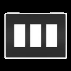 43182 - Plaque triple noir mat