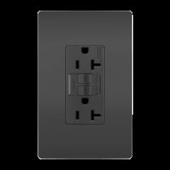 42879 - Prise 20 Amp GFCI noir mat