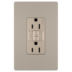 28016 - Prise de courant 15 Amp GFCI gris argenté