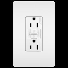 28015 - Prise de courant blanche satinée 15 Amp GFCI